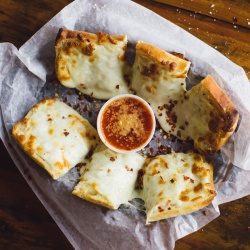 Garlic Cheese Bread from Coach's Pizza