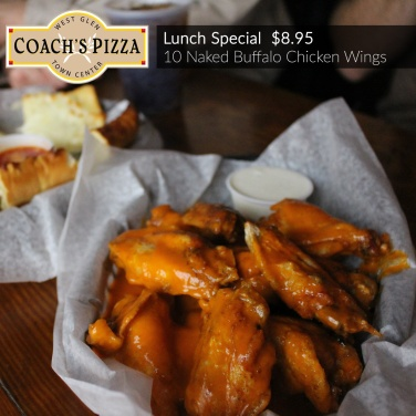 Lunch Special: Naked Buffalo Chicken Wings $8.95
