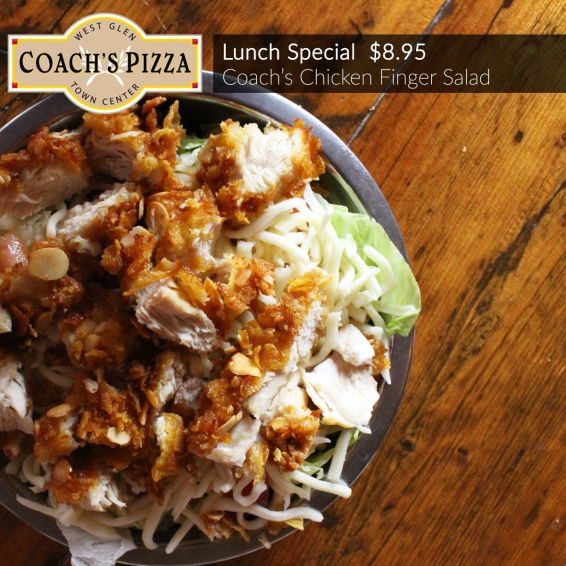Lunch Special: Coach's Chicken Finger Salad $8.95