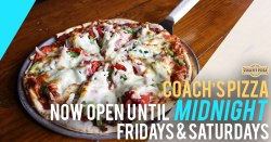 Coach's Pizza West Des Moines Open Until Midnight on Fri & Sat